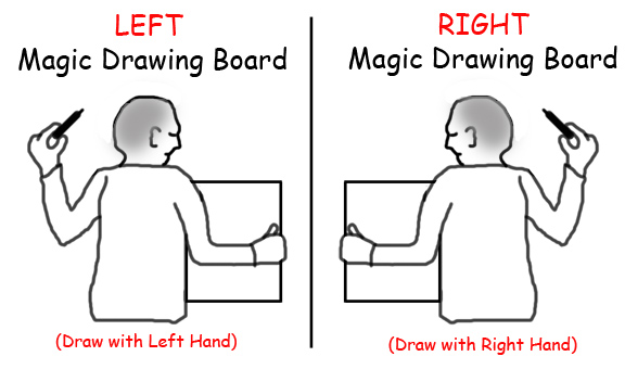 Magic Drawing Board Left Right